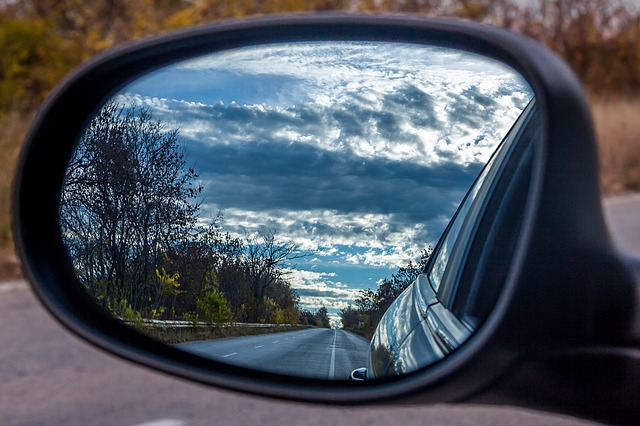 Car Mirror Road Trip