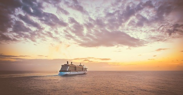 Cruise Ship Sunset Vacation